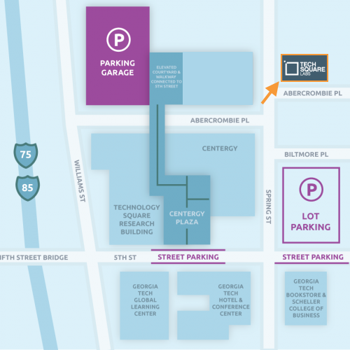 Parking Map for Tech Square Labs
